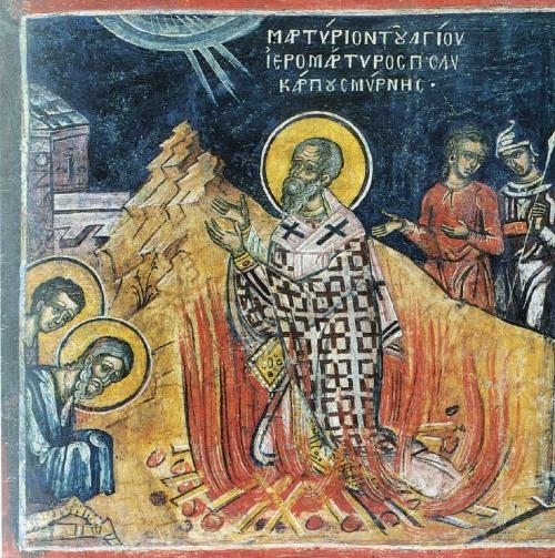 Saint- Polycarpe , évêque et martyr dans immagini sacre polycarp